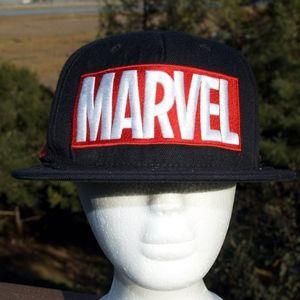Marvel Flat Brim Baseball Cap Hat Comics Black